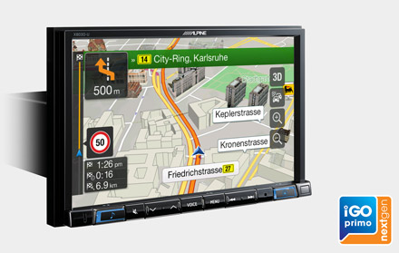Built-in iGo Primo NextGen Navigation - X803D-U